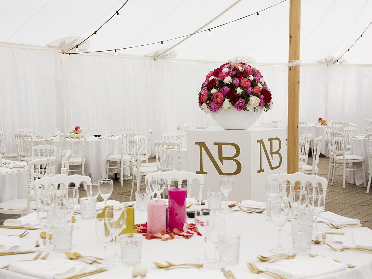 Wedding reception in Damme